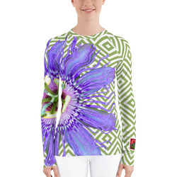 Passion Flower Floral UPF SPF Top - Sun Shirt