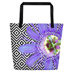 Passion Flower Beach Bag